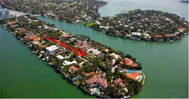 Allison Island Waterfront Miami Beach homes